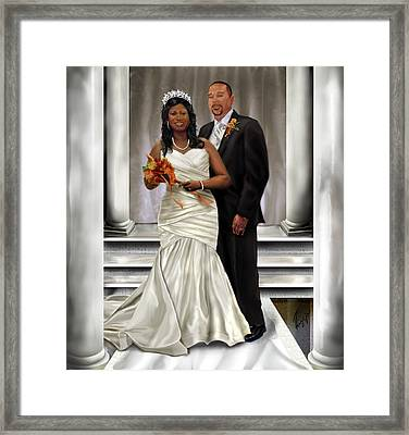 Commissioned Wedding Portrait  Framed Print by Reggie Duffie