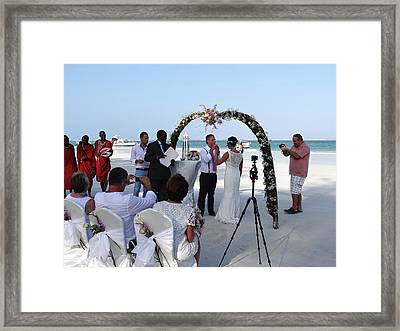 Commitment On The Beach In Kenya Framed Print