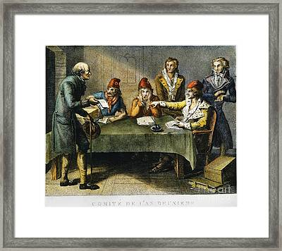 Committee Of Public Safety Framed Print by Granger