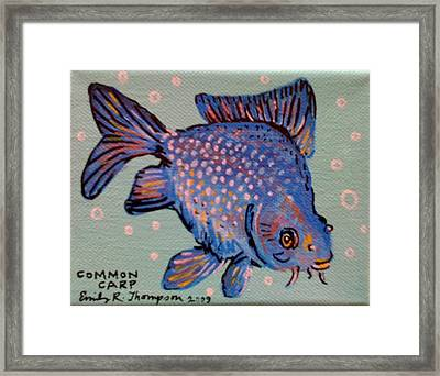 Common Carp Framed Print by Emily Reynolds Thompson