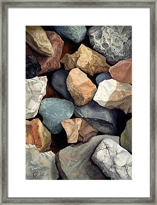 Common Stone Framed Print by Craig Gallaway