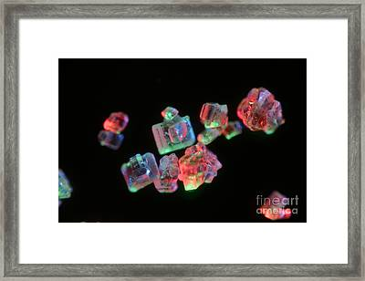 Common Table Sugar Under A Microscope Framed Print