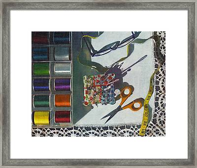 Framed Print featuring the painting Common Thread by John Dyess