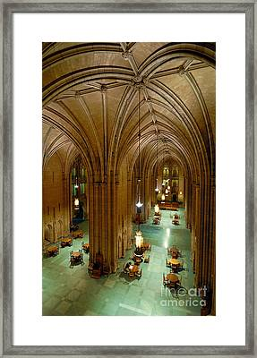 Commons Room Cathedral Of Learning - University Of Pittsburgh Framed Print by Amy Cicconi