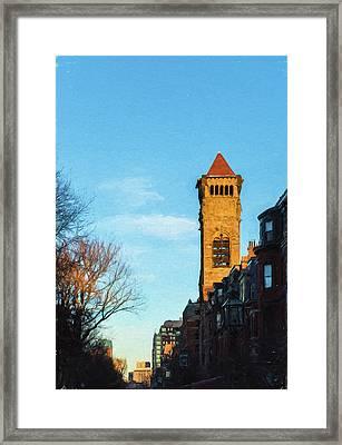 Commonwealth Avenue In Boston Framed Print