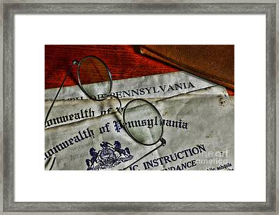 Commonwealth Of Pennsylvania Framed Print by Paul Ward