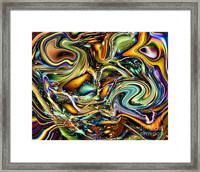 Commotion In The Motion Vii Framed Print by Jim Fitzpatrick