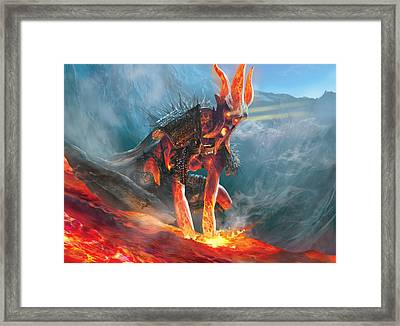 Commune With Lava Framed Print by Ryan Barger
