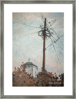 Framed Print featuring the painting Communication by Olimpia - Hinamatsuri Barbu