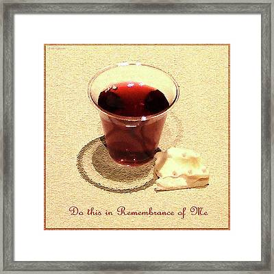 Communion Framed Print by Cristophers Dream Artistry