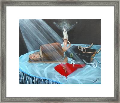 Communion Framed Print by Joni McPherson