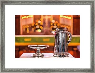 Communion Silver 1800 Framed Print