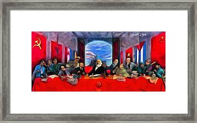 Communist Last Supper Framed Print by Leonardo Digenio