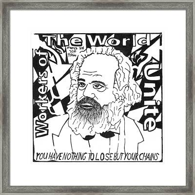 Communist Maze Framed Print by Yonatan Frimer Maze Artist