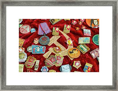 Framed Print featuring the photograph Communist Memorabilia by Fabrizio Troiani