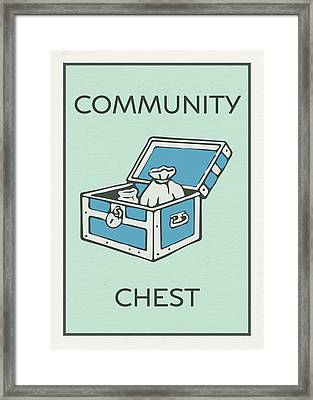 Community Chest Vintage Monopoly Board Game Theme Card Framed Print
