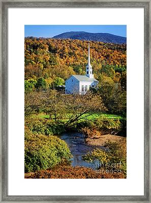 Framed Print featuring the photograph Community Church by Scott Kemper