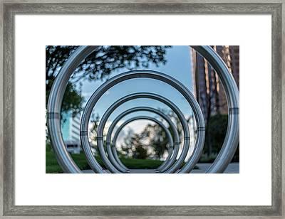 Commuter's Circle Framed Print