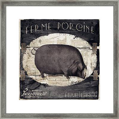 Compagne II Pig Farm Framed Print by Mindy Sommers
