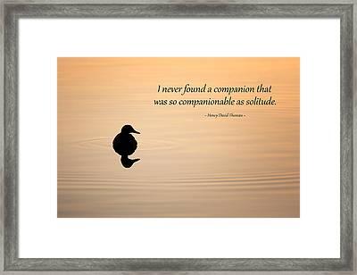 Companion Of Solitude Framed Print