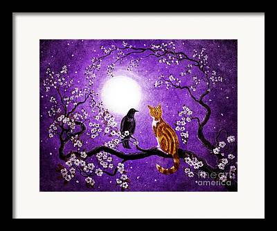 Tabby Cat Digital Art Framed Prints