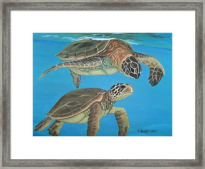 Companions Of The Sea Framed Print by Elaine Haakenson