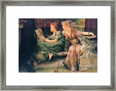 Comparing Books 1892 Framed Print by Padre Art