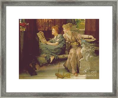 Comparison Framed Print by Sir Lawrence Alma-Tadema