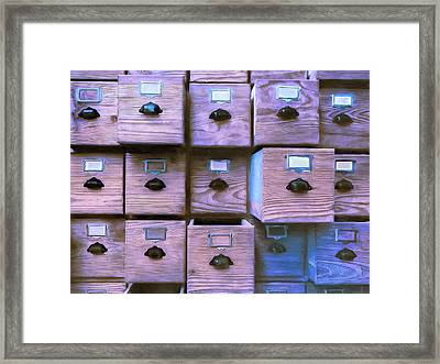 Compartmentalize Framed Print by Dominic Piperata