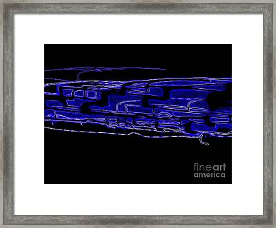 Compartmentalized Blues Framed Print by Rick Maxwell