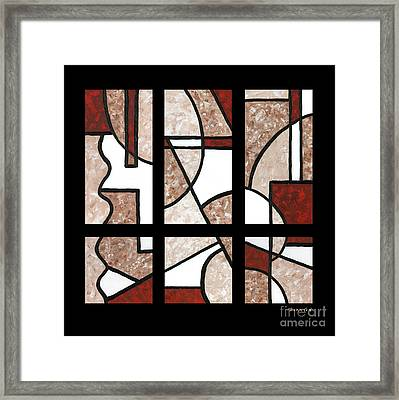 Compartments Six Panels Framed Print by Diane Thornton