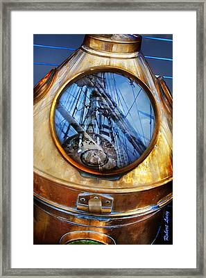 Compass Framed Print by Robert Lacy
