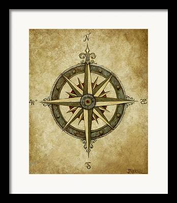 Compass Framed Prints