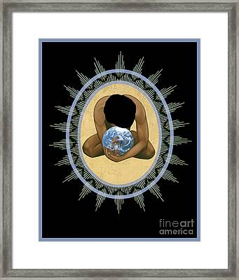 Compassion Mandala - Rlcmm Framed Print