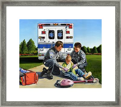 Compassion Framed Print by Paul Walsh