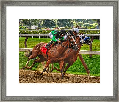 Competing Framed Print