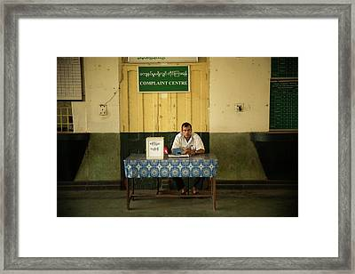 Complaint Center Framed Print