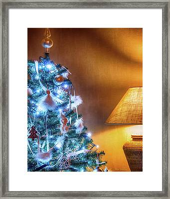Complementary Christmas Tree Framed Print by Wim Lanclus