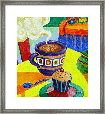 Complementary Coffee 1 Framed Print by Paul Hilario
