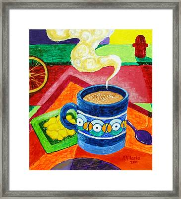 Complementary Coffee 2 Framed Print by Paul Hilario