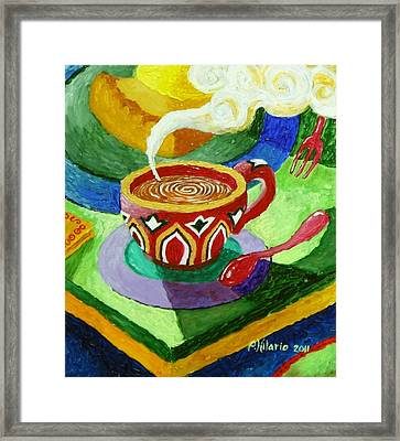 Complementary Coffee 3 Framed Print by Paul Hilario