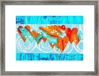 Complementary Love Framed Print by Rahdne Zola