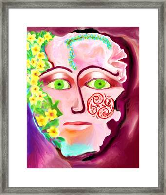 Framed Print featuring the painting Complete - A Mask by Shelley Bain