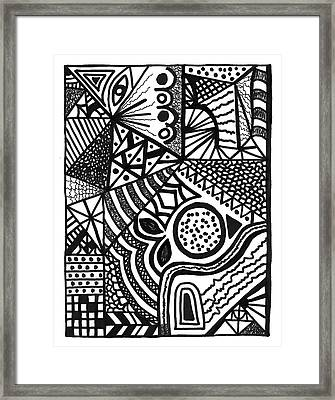 Complex Perception Framed Print