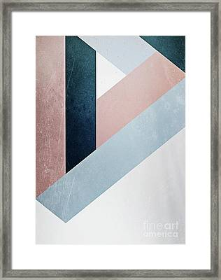 Complex Triangle Framed Print