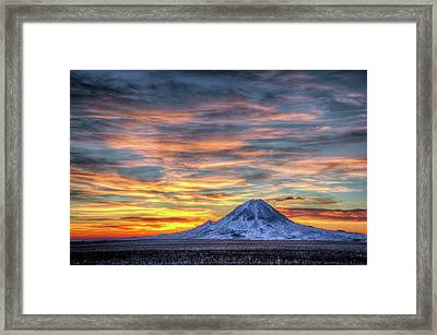 Complicated Sunrise Framed Print