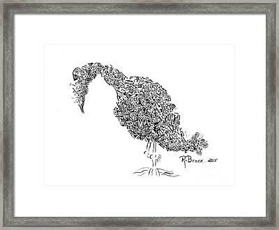 Component Bird Framed Print by Ronda Breen