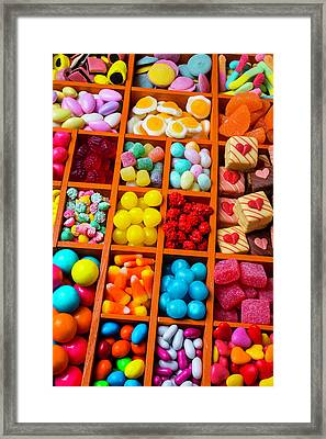 Comportments Full Of Candy Framed Print by Garry Gay