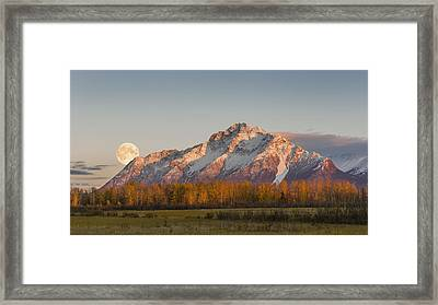 Composite  Scenic Sunset View Framed Print by Ray Bulson