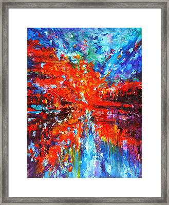Composition # 2. Series Abstract Sunsets Framed Print